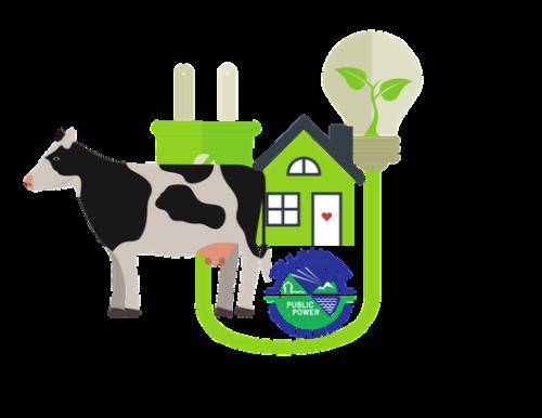 Cow, clean energy Tilamook Public Power